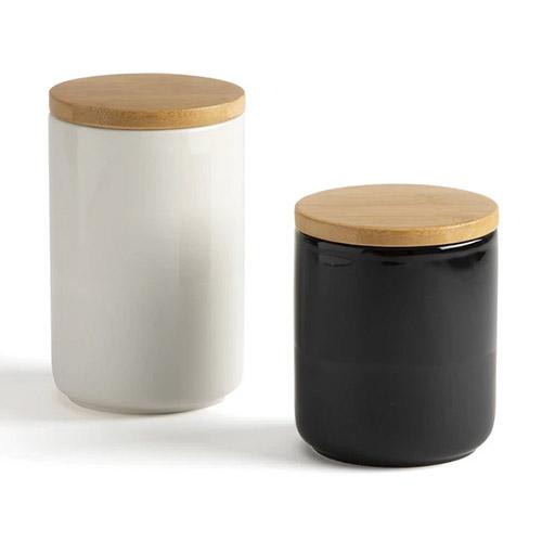 botes de cerámica para almacenaje con tapa