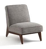 butaca de madera diseño escandinavo de color gris claro