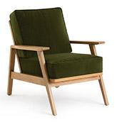 sillón tapizado verde