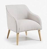sillón tapizado gris claro