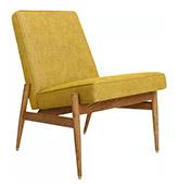 butaca de madera de diseño escandinavo vintage