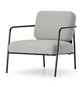 sillón estilo nórdico de color gris claro