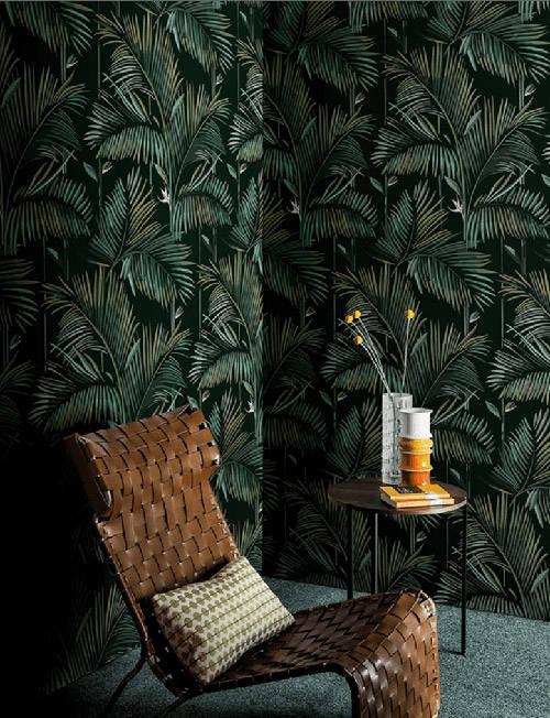 Fondo oscuro con detalles de colores tropicales