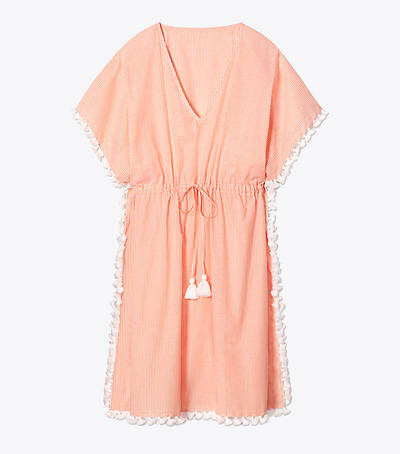 Kaftan de playa de color naranja