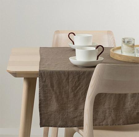 manteles y caminos de mesa de lino