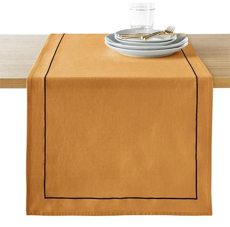 mantel individual de tela de algodón y lino
