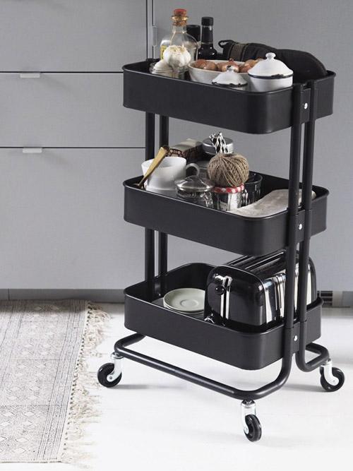 carrito con ruedas cocina pequeña