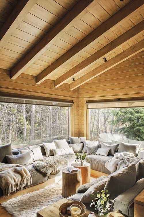 Casa de madera de estilo nórdico