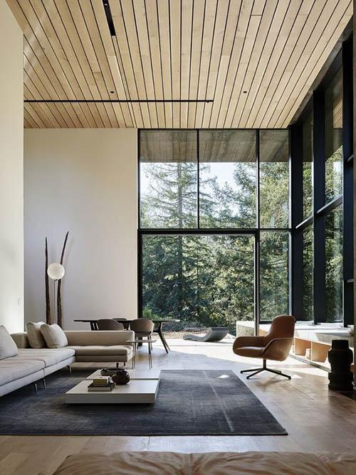 Casa con arquitectura moderna