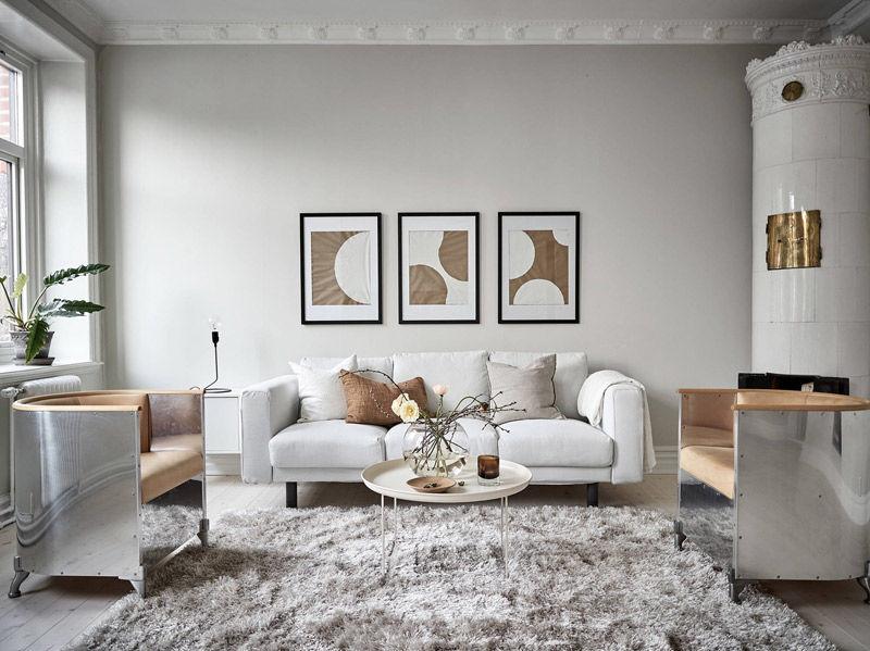 Cómo decorar un salón con colores neutros