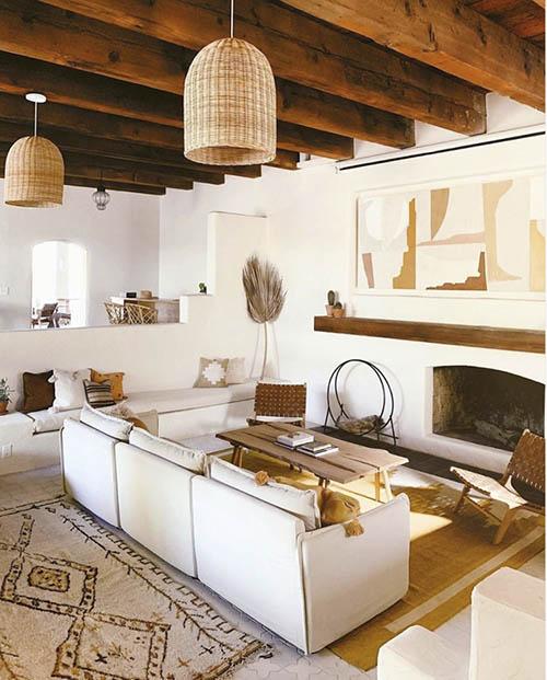 el estilo scandifornian en la decoración de casas