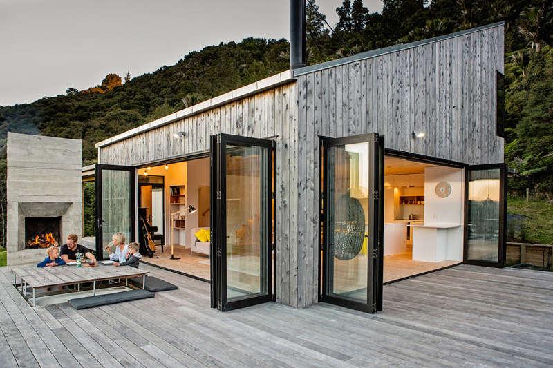 Casa de madera de diseño moderno