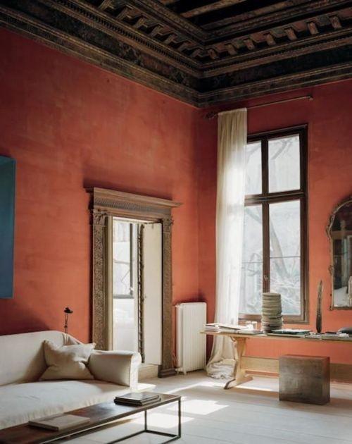 Pintar las paredes de casa con el color terracota