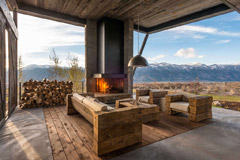 Casas rústicas de diseño moderno