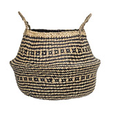 cesta de fibras naturales