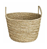 cesta de fibra natural