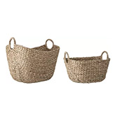 cestas de fibras naturales