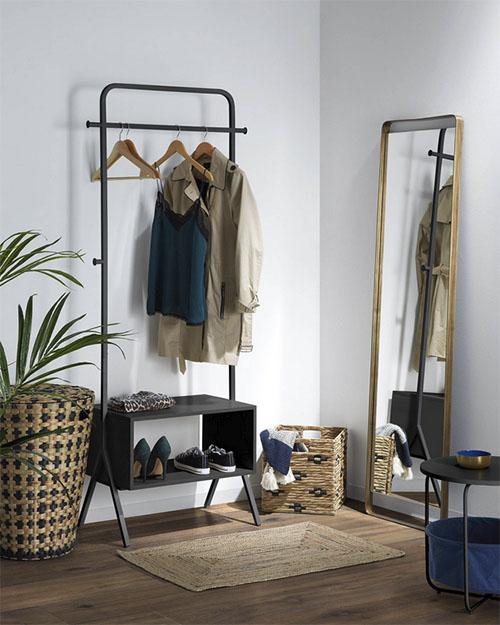 cestas y cestos para la decoración del dormitorio