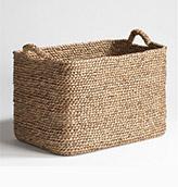 cestas de mimbre para la decoración de casa