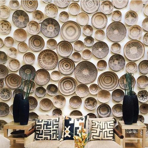 Interior con diseños y motivos de inspiración africana