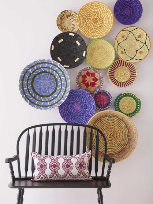 cestas africanas teñidas con tintes naturales