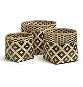 cestas de bambú