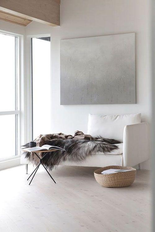 Cestas para decorar interiores minimalista