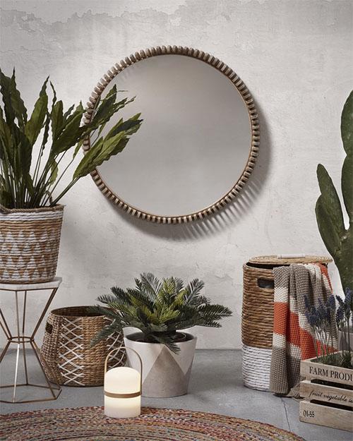 decoracion de casas con cestas de fibras naturales