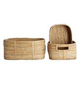 cestas de mimbre para la decoración del baño