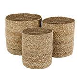 cestas de mimbre para decorar del baño