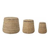 cestas de mimbre con tapa