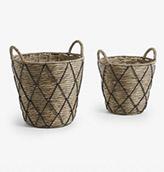 cestas de mimbre color negro