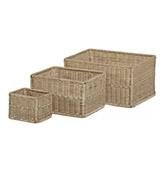 cestas de ratán para la decoración del baño