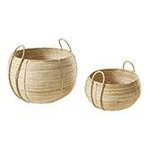 cestas de ratán para decorar el hogar