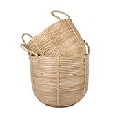 cestas redondas fibra natural