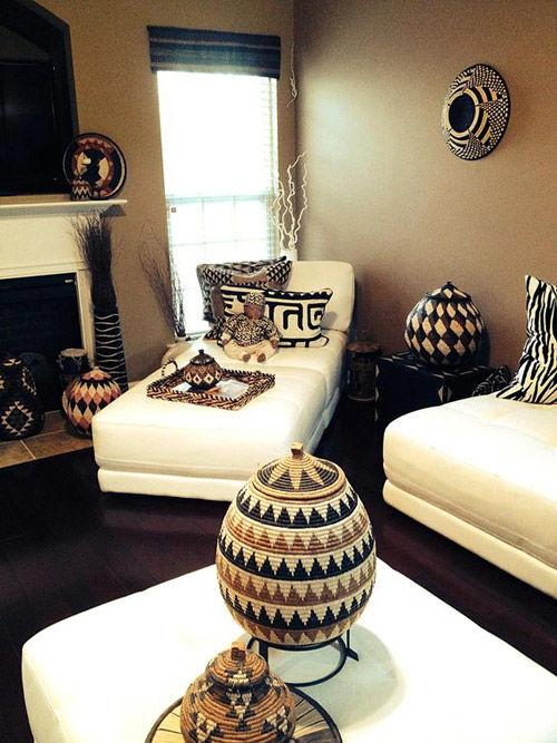 decoracion de interiores con cestas zulu