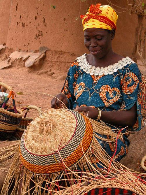 la cestería en el continente africano