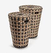 cestos grandes fibra natural