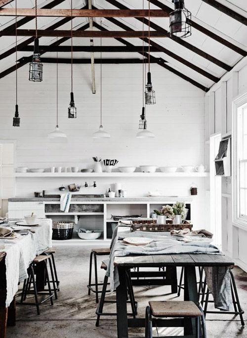 Cocina rustica blanca