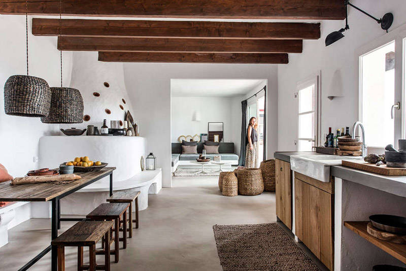Una cocina en una casa de campo en Mallorca