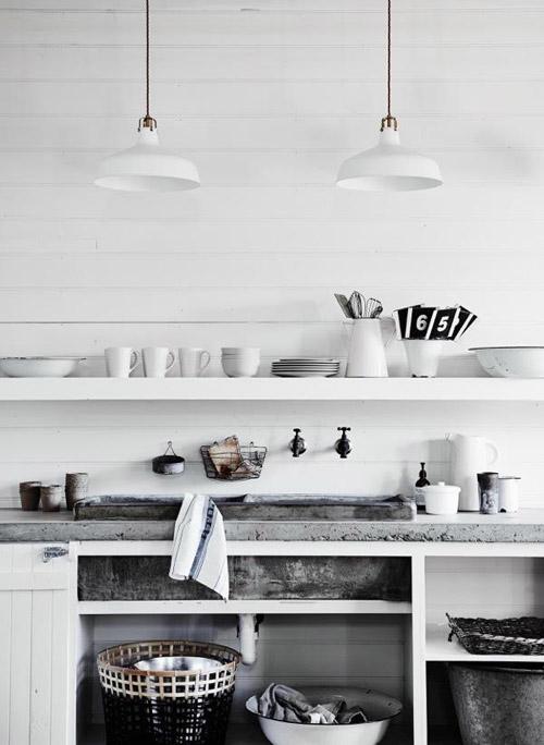 Detalles de una cocina escandinava