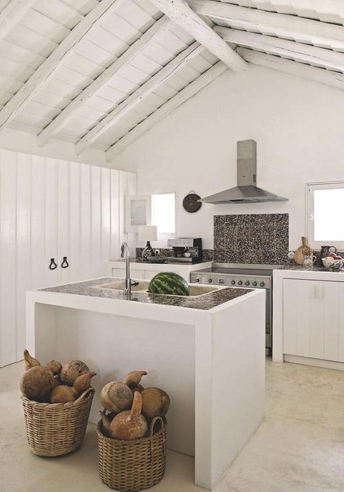 cocina en una casa en portugal