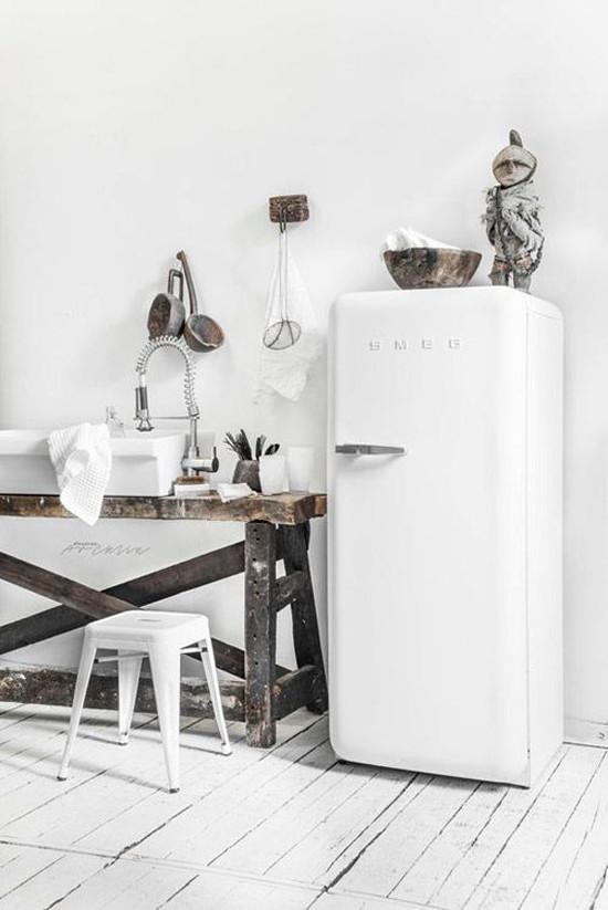 El color blanco y la madera en las cocinas de estilo nórdico