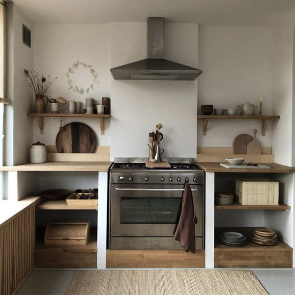 cocina rustica de estilo nordico