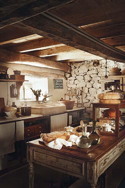 Cocina de estilo rustico