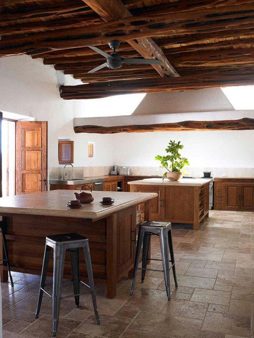 Cocinarçustica en una casa de campo