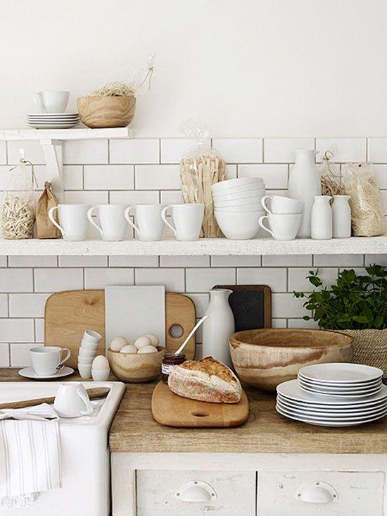 Detalles en madera en las cocinas escandinavas