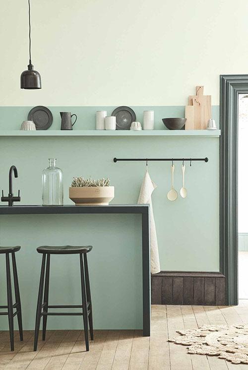 decoración de cocinas verdes