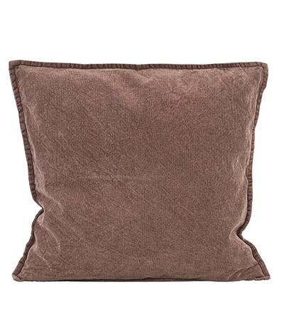 cojín de color marrón chocolate