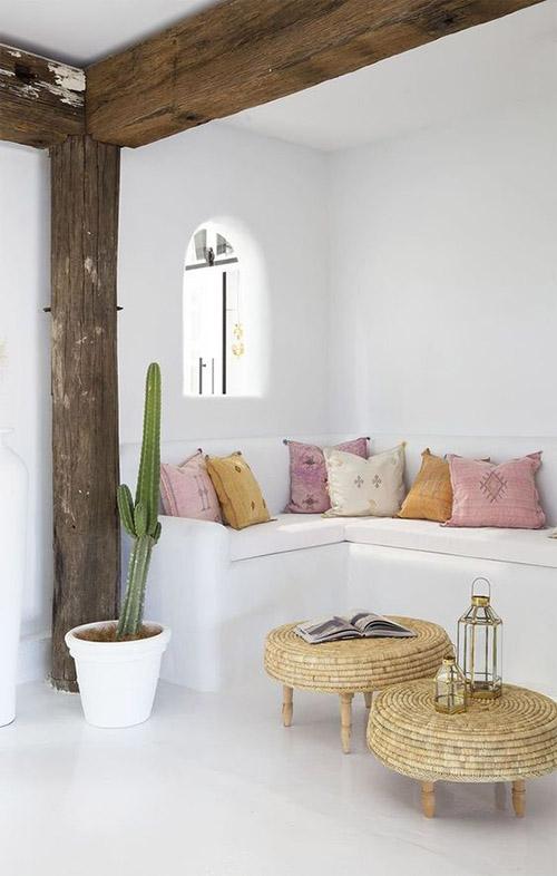 cojines marroquíes Sabra para la decoración de interiores